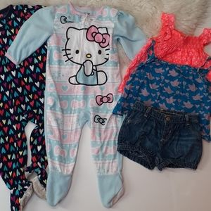 Girls sleep and play clothing set of 5 assorted